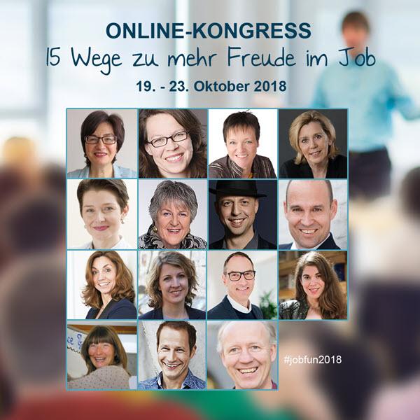 """Online-Kongress """"15 Wege zu mehr Freude im Job"""""""
